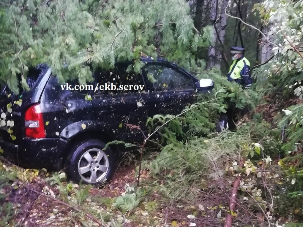 районе 204 км автодороги Екатеринбург – Серов произошло дорожно-транспортное происшествие